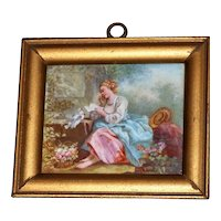 19th Century French Hand-Painted Porcelain Plaque