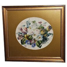 Victorian 19th Century Watercolor of a Mixed Bouquet