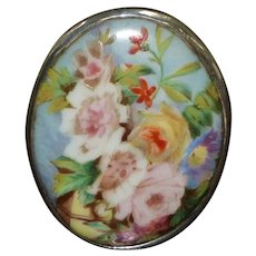 Victorian 19th Century Hand-Painted Miniature Porcelain Plaque