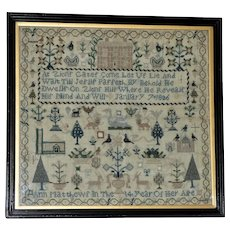George IV Early 19th Century Silkwork Sampler