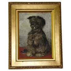 "Portrait of the Terrier, ""Tiney,"" by Sam Bough"