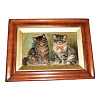 Portrait of Two Be-Ribboned Kittens by Edward Aistrop
