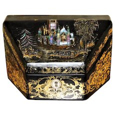 Mid-19th Century Papier Mache Stationary Box