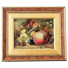 Victorian 19th Century Still Life of Fruit on an Embankment