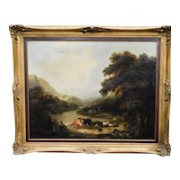 Large Victorian 19th Century Scottish School Romantic Landscape