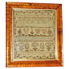 Georgian III Silkwork Sampler Dated 1800