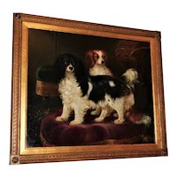 19th Century Portrait of Two King Charles Spaniels
