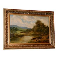Welsh River Landscape with Cows by William J. Watson, ARCA