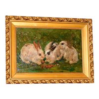 Three Rabbits in a Meadow, by Willem Stern
