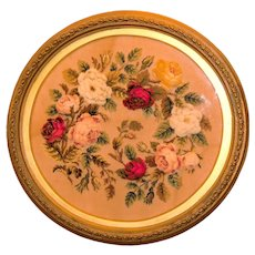Victorian Mid-19th Century Plushwork of Roses