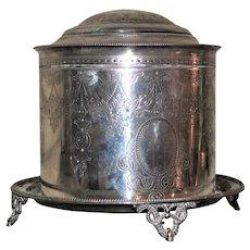 Antique Elkington Silver Plated Tea Caddy