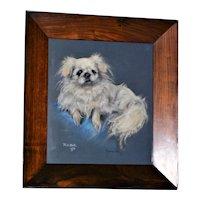 "Pastel Portrait of ""Rosie,"" a Pekingese Dog, by Marjorie Cox"
