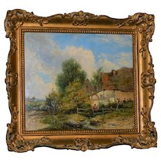 """""""Country Scene,"""" Attributed to J.A. Houston"""