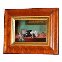 "19th Century Miniature after Landseer's ""The Cavalier's Pets"""
