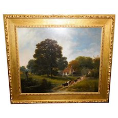 A Large and Impressive Mid-19th Century Landscape by George Cole