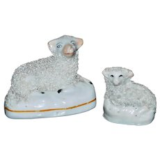 Two Mid-19th Century Victorian Staffordshire Sheep