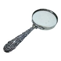 Antique Edwardian Silver-Handled Magnifying Glass