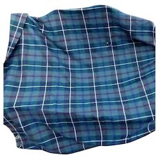 Vintage Pure Wool Scottish Tartan Yardage