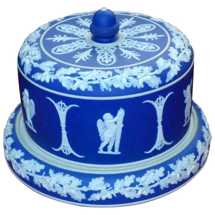 19th Century Victorian Dudson Jasperware Cheese Dome Decorated with ...
