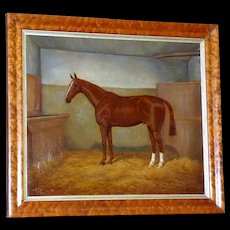 Portrait of a Horse in a Stall, by William A. Clark
