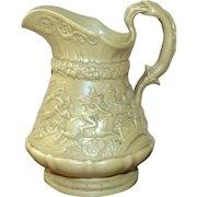 "Large Early 19th Century Ridgway Relief Molded Stoneware ""Tam O'Shanter"" Jug"