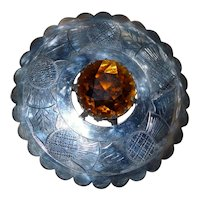 Victorian Mid-19th Century Large and Impressive Scottish Silver Kilt Pin