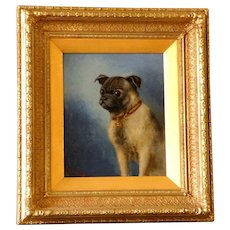 Portrait of a Pug, Dated 1900