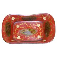 Early 19th Century Small Papier Mache Dish by Clay and Company