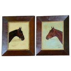 Pair of Horse Portraits by W.H. Wheeler