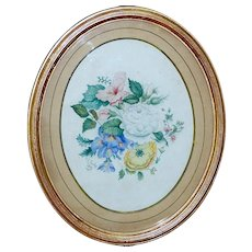 19th Century Watercolor of a Spray of Summer Flowers, Dated 1879