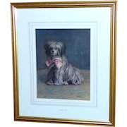 """Watercolor Portrait of the Dog, """"Raggs,"""" by Edith Teall"""