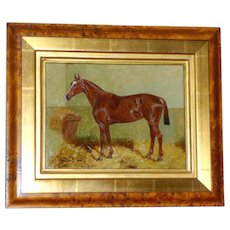 Antique Portrait of a Horse in a Stall, by George Paice