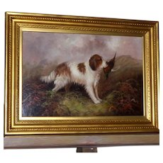 Antique Portrait of a Spaniel, by J. Langlois