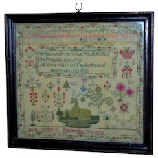 Early 19th Century Regency Sampler, Dated 1822 (reserved for Rebecca)