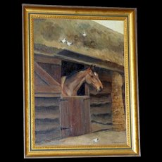 Horse at Stable Door, by Mary Browning