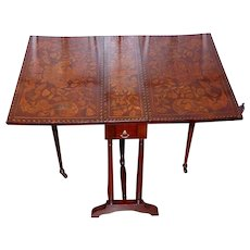 Small Dutch Marquetry Folding Coffee Table