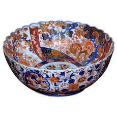 19th Century Meiji Period Large Imari Bowl