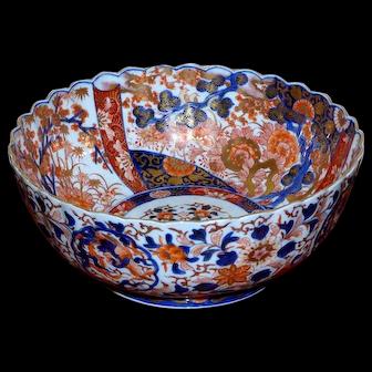 19th Century Meiji Period Large Imari Bowl