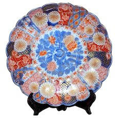 19th Century Meiji Period Imari Scalloped Dish