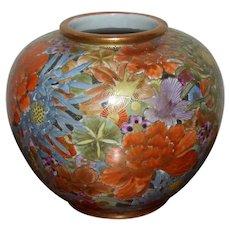 19th Century Meiji-Period Satsuma Millefleur Vase