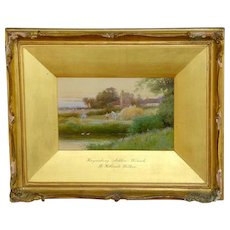 """""""Haymaking, Ashlow, Warwickshire,"""" a Watercolor by R. Hollands Walker (reserved for Kathy)"""