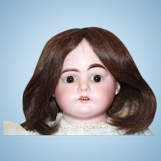 """19 1/2"""" tall on this Lovely Armand Marseille, AM, German Antique doll! Great kid leather jointed body, no damage, bisque arms, composition lower legs."""