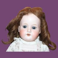 """22 1/2"""" tall AM, Armand Marseille German Antique Doll, no hairlines, great 2 piece lace outfit, pantaloons, no hairlines, blue sleep eyes, human hair wig!"""