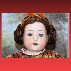"21"" Tall, German Antique Doll, by Ernst Heubach Koppelsdorf, original body, bisque head and hands, shoulderhead, blue sleep eyes, eyelashes, great condition!"