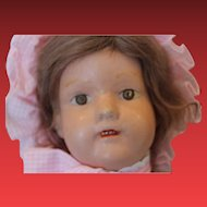 """19"""" tall Schoenhut Miss Dolly! Damage on both ears, repaint on lips (bad job on the painting) great body! Poseable! Antique doll. Great body!!"""
