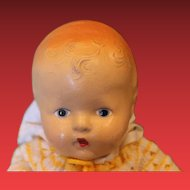 "Vintage American Composition baby doll, great condition on the body, 12"" long in size, well strung!"