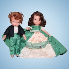 Nancy Ann Story Book Dolls, bisque dolls, Flossie from Dublin, brother included, #174, Original box included!