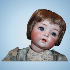 German Antique Simon & Halbig, Doll #121 on Toddler Body! No hairlines, breaks or repairs. Blue glass sleep eyes, eyelashes, sleepeyes. So Cute!