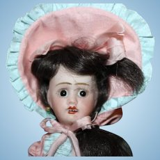 "Jules Verlingue French Bebe bisque head doll, Petite Francaise, Anchor mark, France 3/0, 8 3/4"" tall"