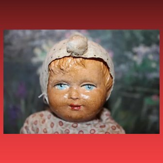 """Antique  Cymbalist doll toy that claps when you push the chest area, above the chest area. 11"""" tall in size, great condition! A"""
